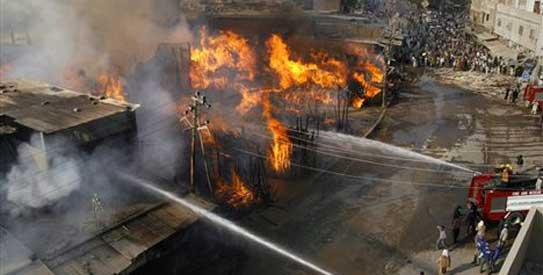Fire Destroy Properties Worth Millions In Benin
