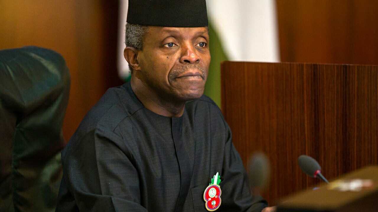 Osinbajo : Acting President urges youths to promote Nigeria's unity narratives