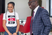 Nollywood Star, Adesua Etomi visits Obaseki, lauds achievements