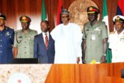 President Buhari, Security Chiefs Meet in Aso Rock