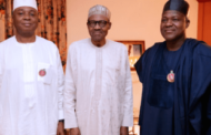 President Buhari Meets Saraki, Dogara Behind Closed Doors In Aso Rock